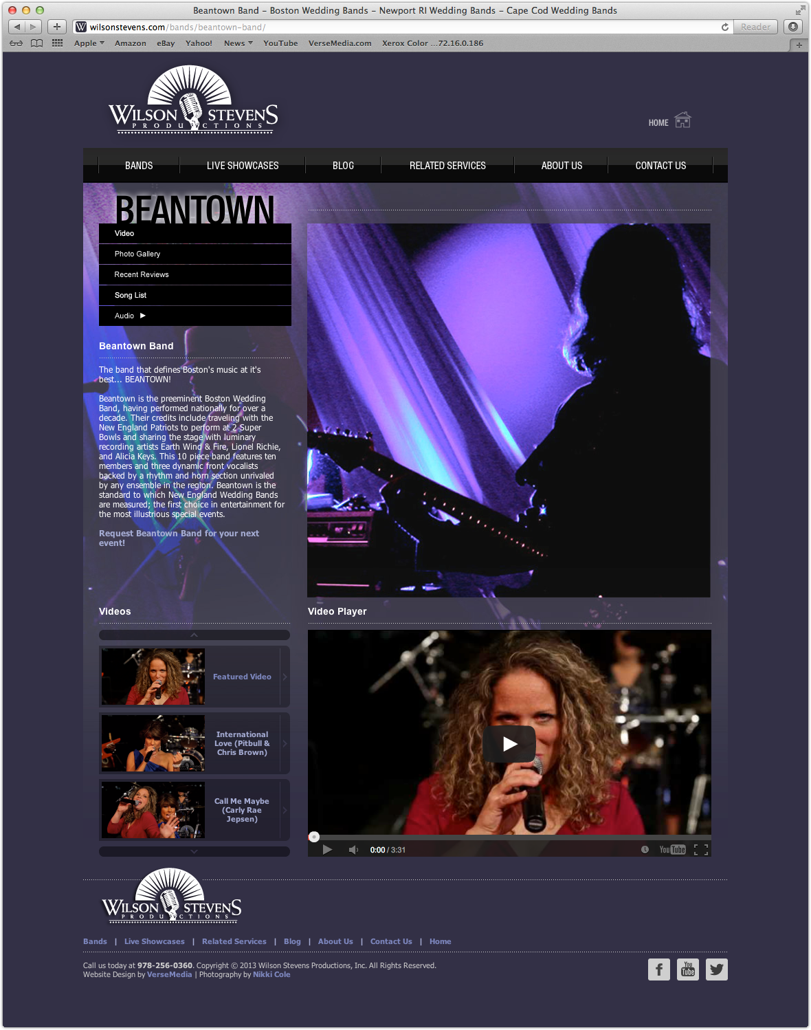 Beantown Band Page